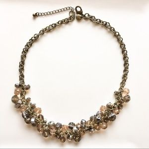 Glass, crystal and assorted bead necklace by LOFT